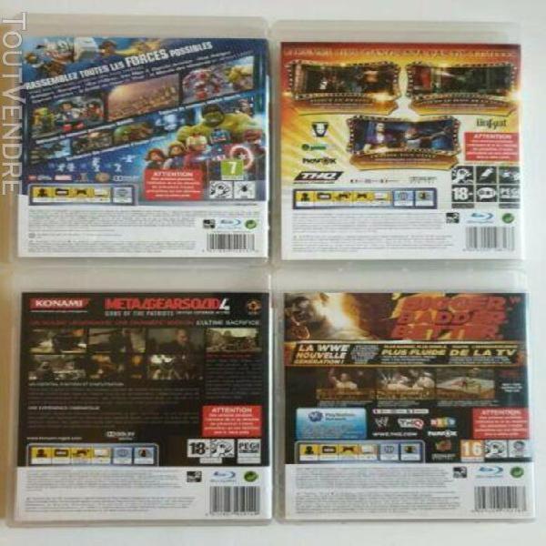 Lot de 4 x jeux video ps3 lego marvel avengers saints row 2