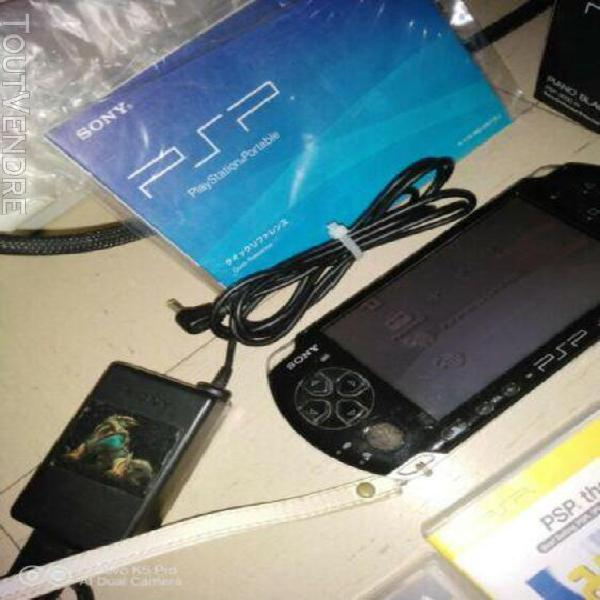 Lot set console psp - 3000 piano black boite + 30 jeux en bo
