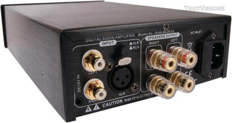Elecaudio dualbloc 22 amplificateur de puissance stéréo