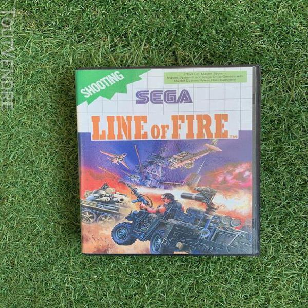 jeu line of fire jeu pour master system