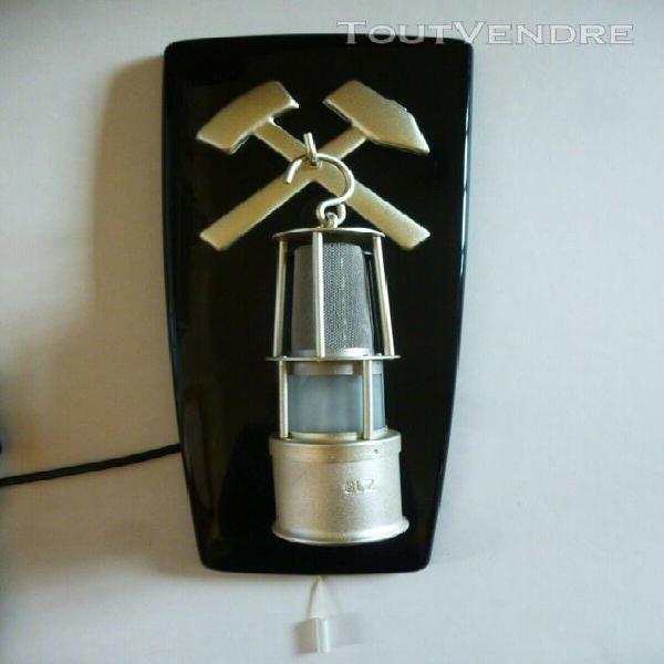 Petite veilleuse forme lanterne mineur - ancienne lampe appl