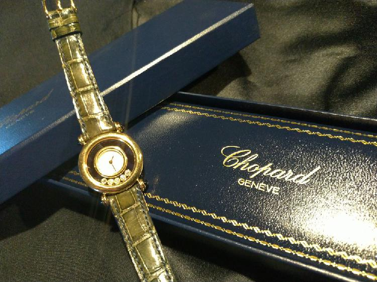 superbe montre chopard or jaune 18 carats neuve jamais port