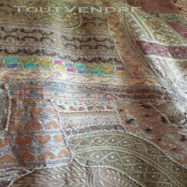 Tapis mural patchwork tapisserie inde