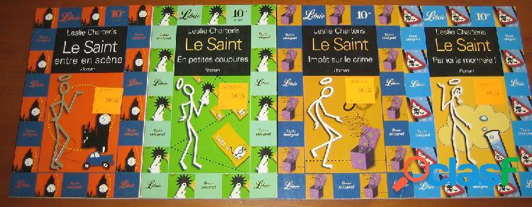 Lot de 4 Le Saint, Leslie Charteris