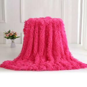 Longue couverture de couverture de fourrure super doux long