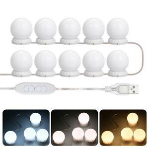 Vanity leds mirror lights kit with 10 bulbs adjustable 10