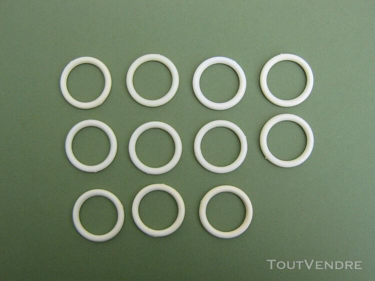 11 anneaux blancs fermes en pvc pour rideau de douche epaiss