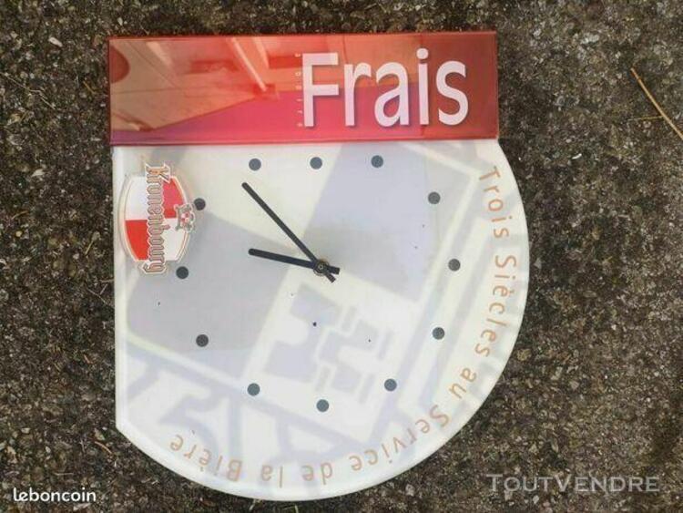 Horloge murale de réclame kronenbourg