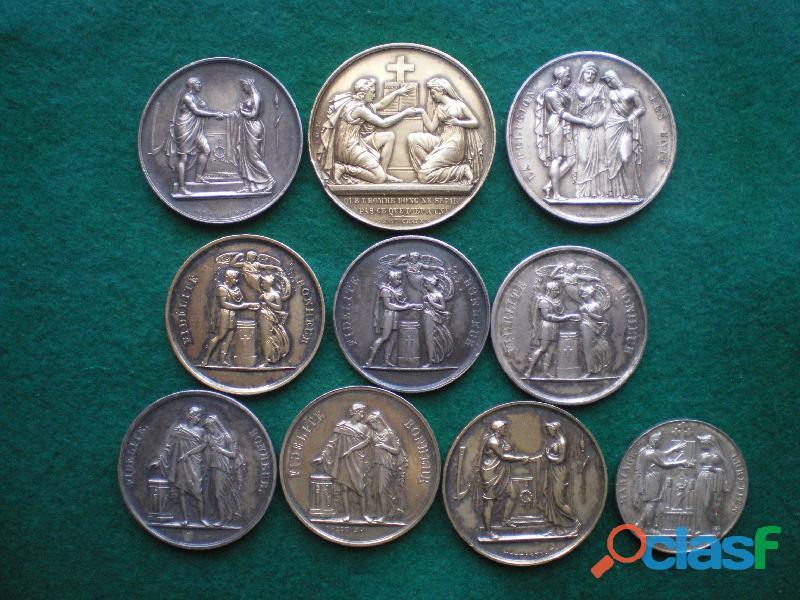Médailles en argent de mariage