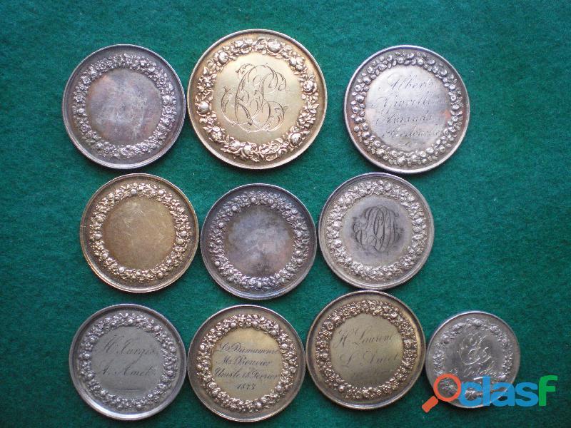 Médailles en argent de mariage 1