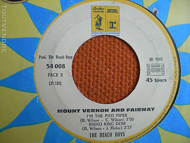 3 vinyls 45 t – beach boys + mount vernon & fairway – us