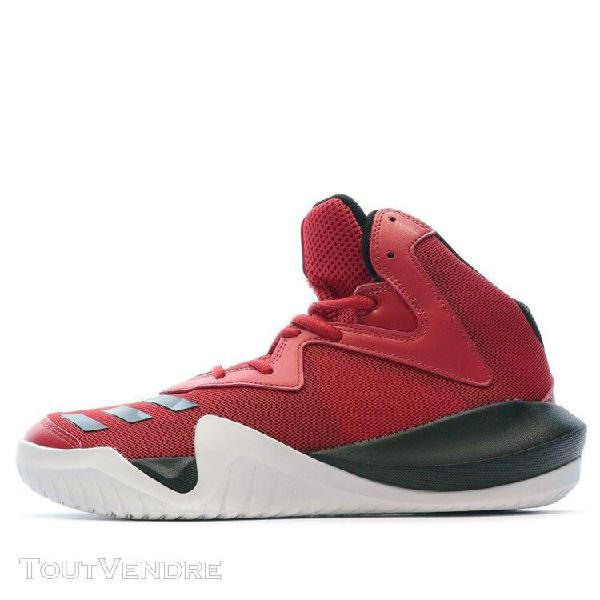 Chaussures de baskets rouge homme adidas crazy team