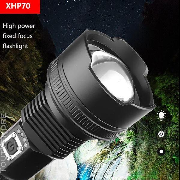 en alliage d'aluminium xhp70 led puissante lampe de poche ch
