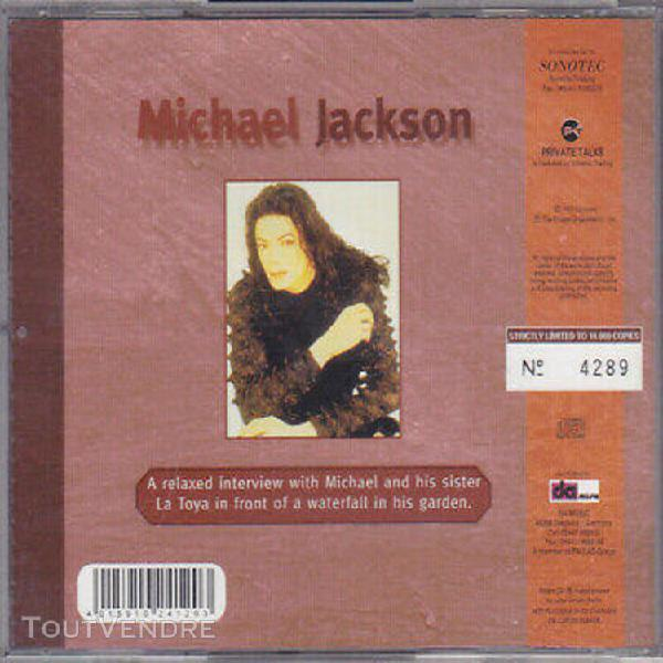Michael jackson picture cd limited edition interview 1997