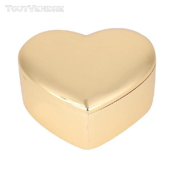 Mini bo?te de rangement portable en forme de coeur