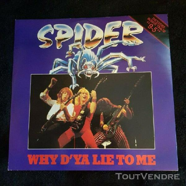 """Spider– why d'ya lie to me 12"""" lp"""
