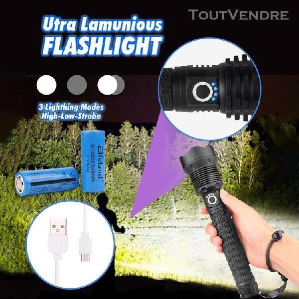ultra-lumineux lampe de poche xhp70 usb de charge forte lumi