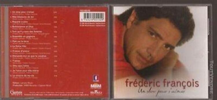 Cd frederic francois. cd album 14 titres. un slow pour s aim