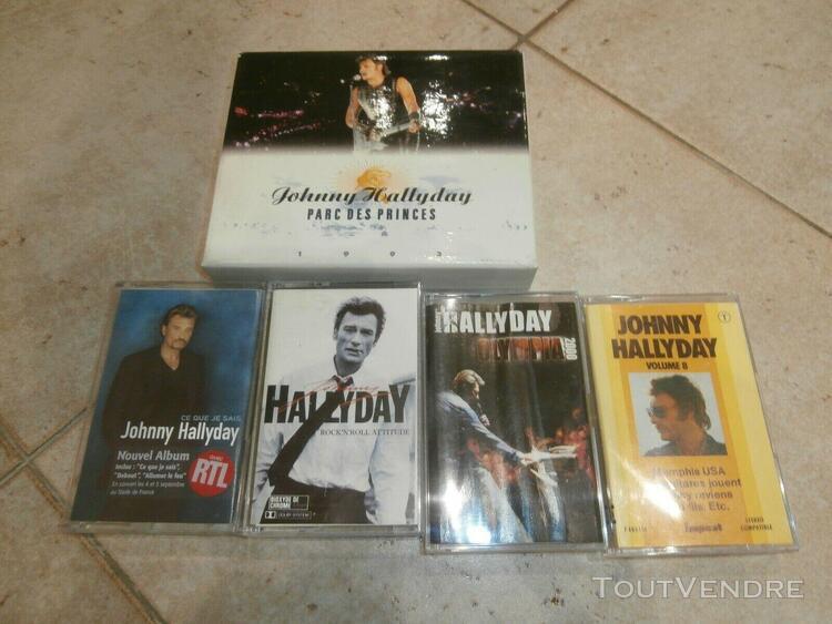 Johnny hallyday coffret 2 cassettes audio parc des princes +