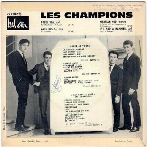 Les champions martian hop cruel sea 1963 ep french 60s