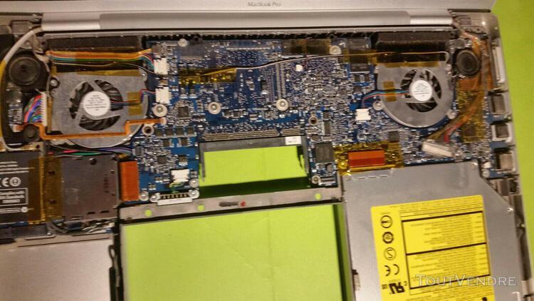 Carte mère macbook pro a1150 15- inch avec dissipateurs et