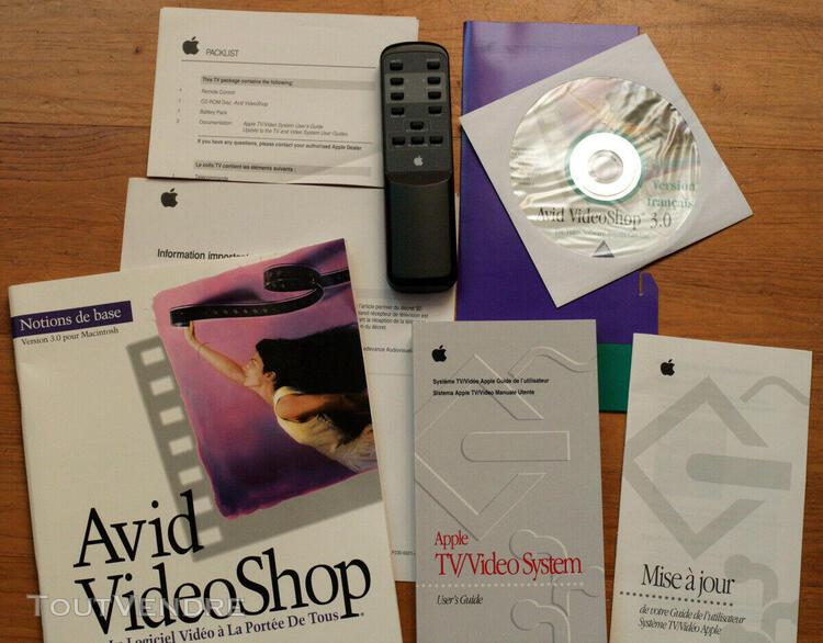 Apple • macintosh • avid videoshop 3.0 • tv/video