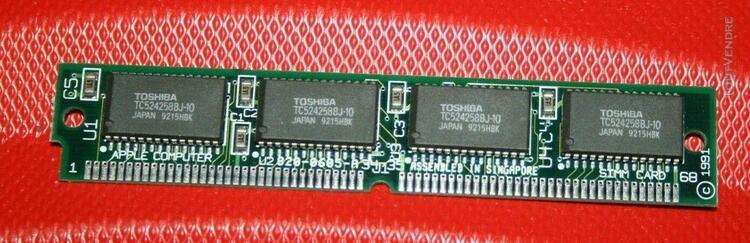 barette 512 kb vram video memory simm quadra lc 475 820-0605