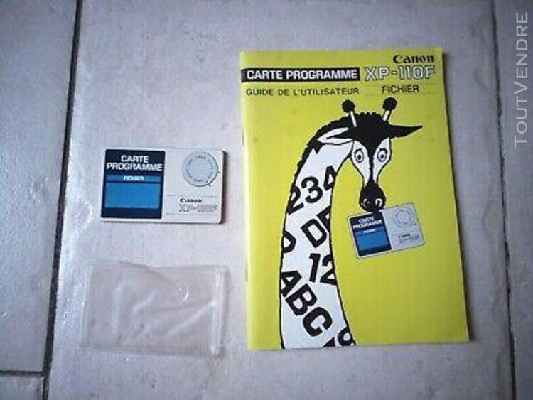 carte programme xp-110f fichier avec notice pour ordinateur