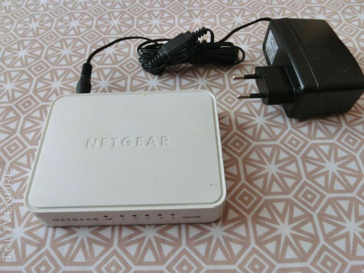 switch netgear 5 ports gigabit gs205-100 pes