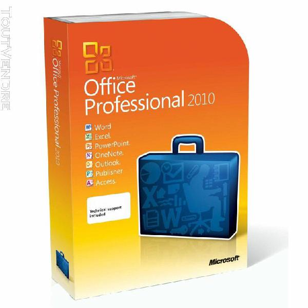 Microsoft office 2010 proplus - 32/64 bits - 1pc