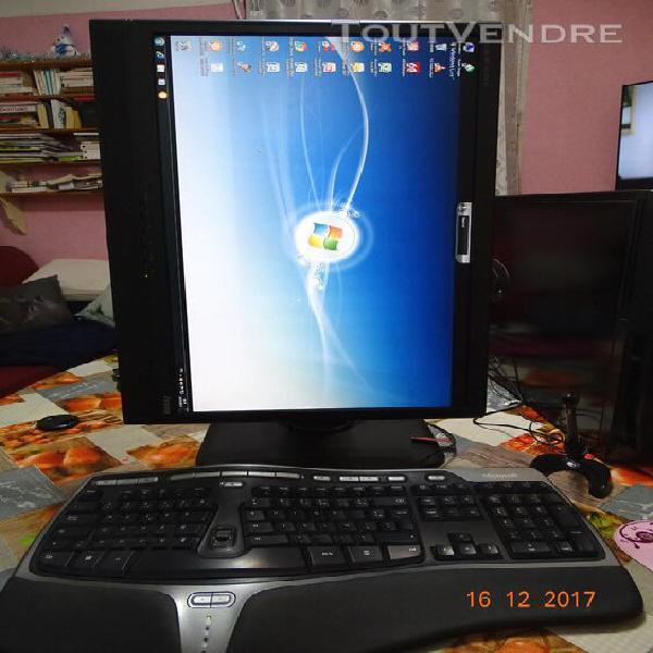 Ordinateur bureau,clavier,souris ecran,4x 3,2 ghz, 2 disques