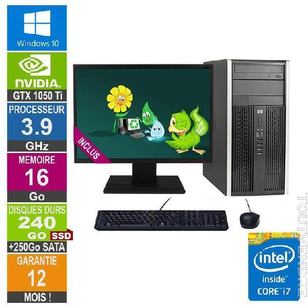 pc gamer lpg-6300t core i7-3770 3.90ghz 16go/240go ssd + 250