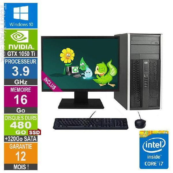 pc gamer lpg-6300t core i7-3770 3.90ghz 16go/480go ssd + 320