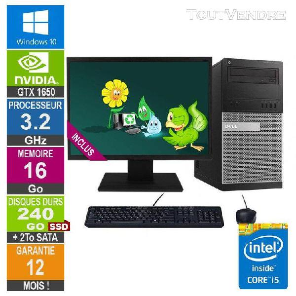 pc gamer lpg-9020t core i5-4570 3.60ghz 16go/240go ssd + 2to