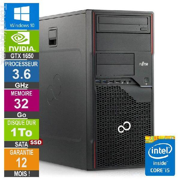 pc gamer lpg-p710 core i5-3470 3.60ghz 32go/1to ssd/gtx 1650