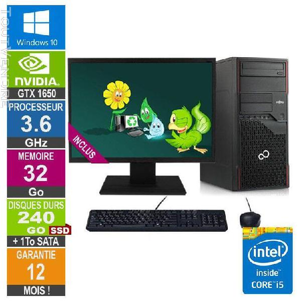 pc gamer lpg-p710 core i5-3470 3.60ghz 32go/240go ssd + 1to/