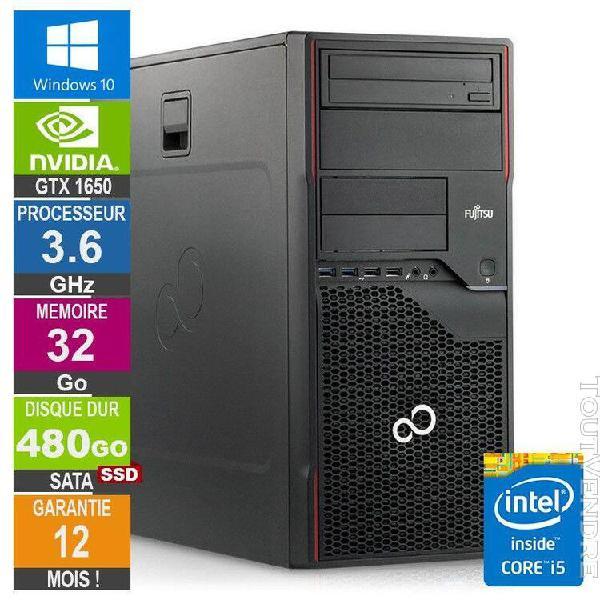 pc gamer lpg-p710 core i5-3470 3.60ghz 32go/480go ssd/gtx 16