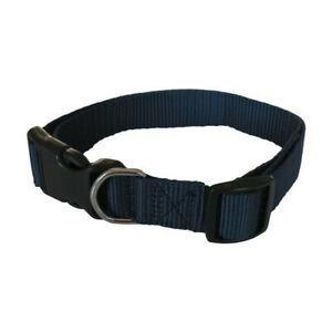 Yago collier classique bleu en nylon pour grand chien,