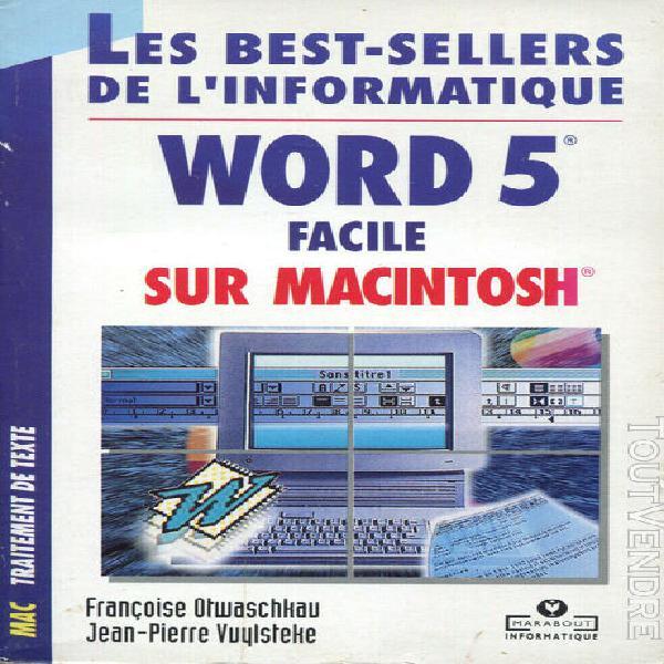Informatique – word 5 – macintosh – traitement de