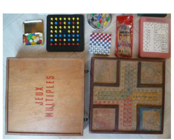Jeux de société, puzzles, livre,...