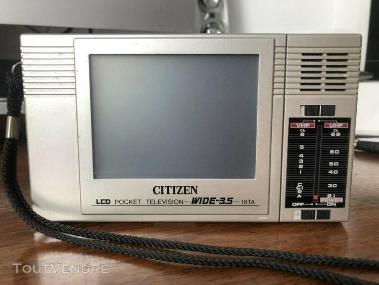 lcd pocket television n&b. citizen 18ta