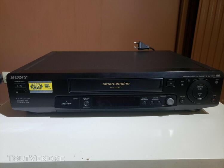 magnetoscope sony slv-se80 lecteur enregistreur k7 cassette