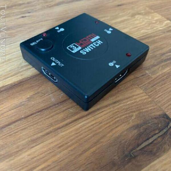 switch hdmi hub sélecteur multiprise hdmi