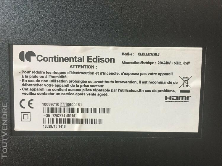 television continental edison cedled32ml3 dalle hs pour