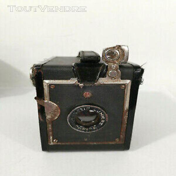 ancien appareil photo box lumiÈre avec Étui - vintage