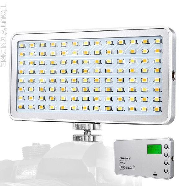 craphy sl-80a lampe vidéo de poche led avec écran