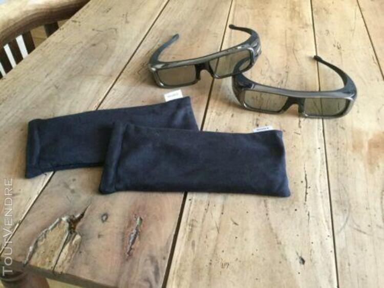 lot de 2 paires de lunettes 3d sony