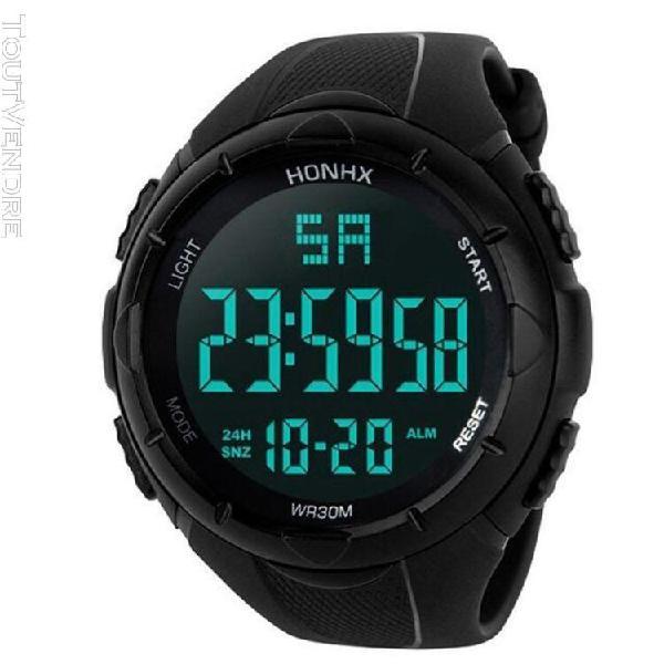 Montre sport sports watch men analog digital militaire silic