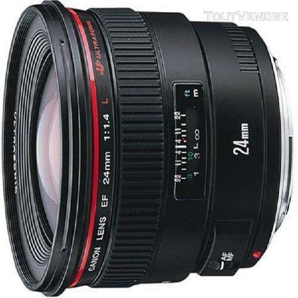 objectif canon ef - fonction grand angle - 24 mm - f/1.4 l u