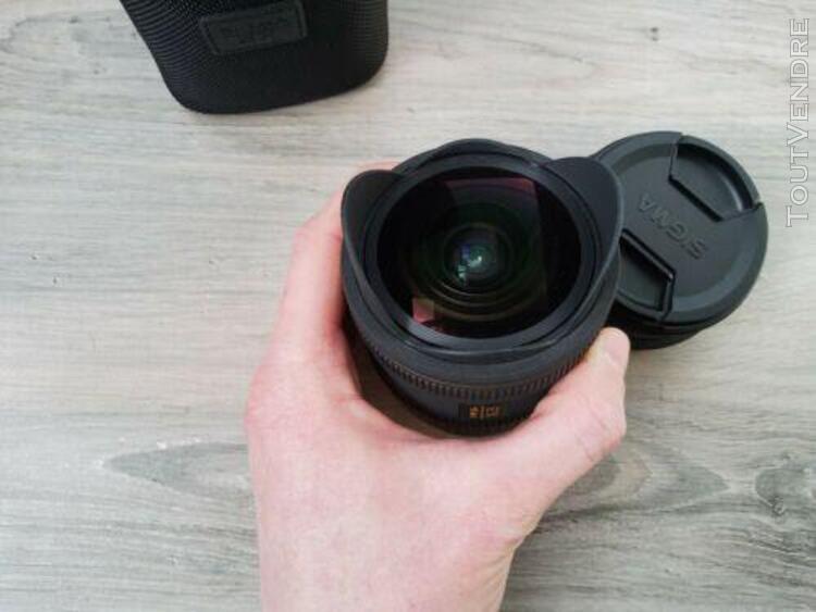 objectif sigma ex dc fisheye hsm 10mm f 2,8 pour canon - ét